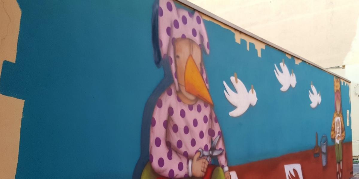 a caccia street art