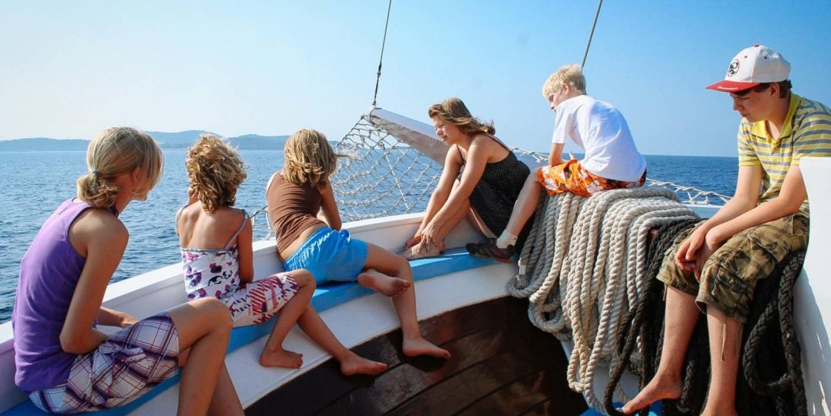 croazia famiglie bici barca