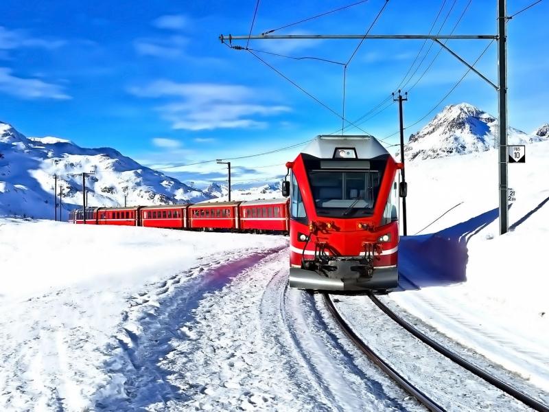 Festeggiamo il Capodanno con i bambini sul Bernina Express