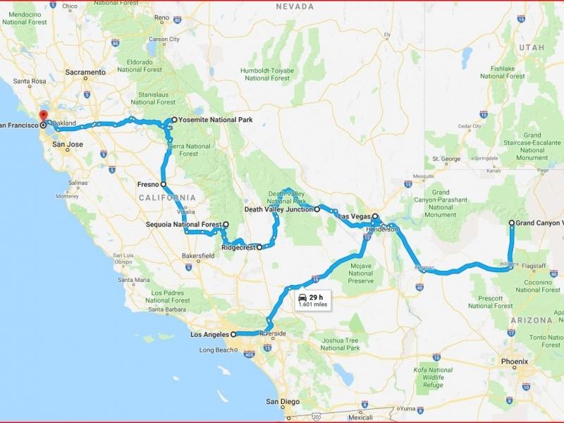 California e i grandi parchi