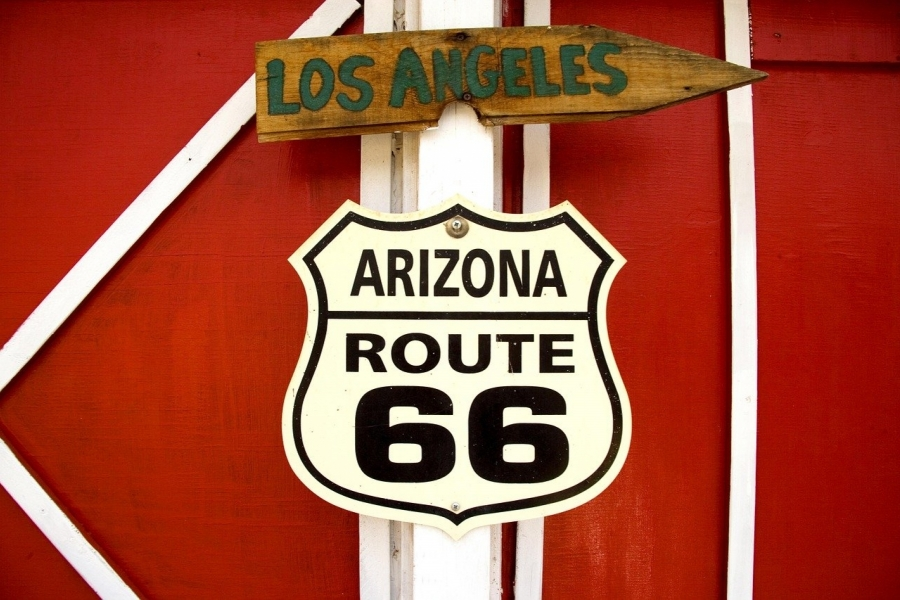 Route 66 on the road!