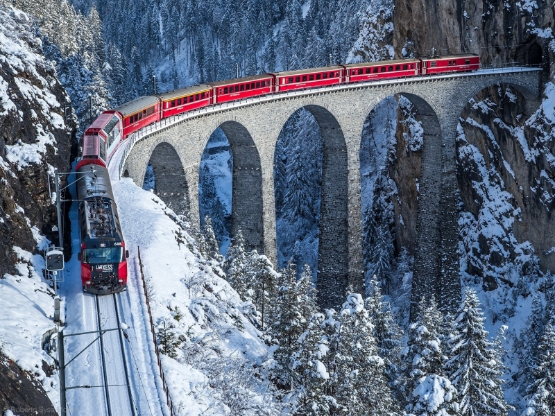 Immacolata weekend a bordo del Bernina Express con i bambini