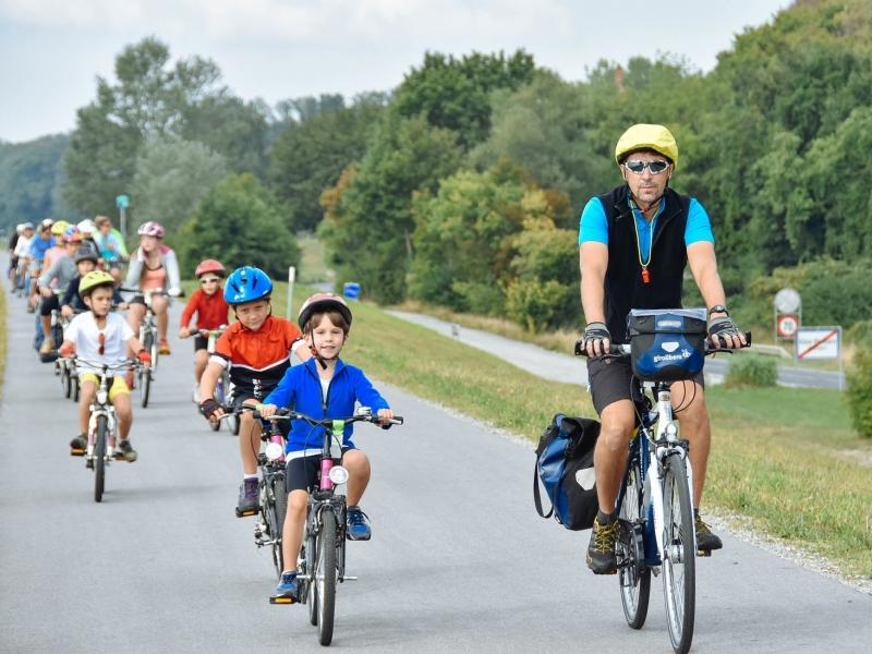 Tour di gruppo per famiglie in Austria in bici