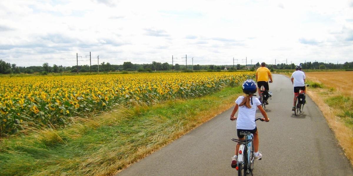 viaggio bici famiglie nella